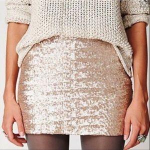 Gap Gold Sequin Mini-Skirt